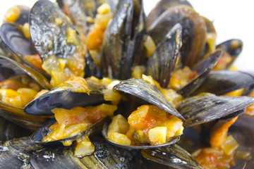 Mussels with sauce