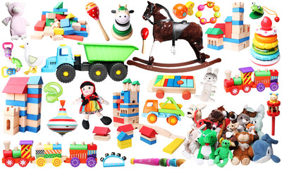 toys for children horizontal background