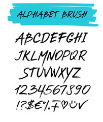 Alphebet set brush style