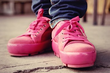 Pink Sneakers - Accessories and wearable (Sneakers).