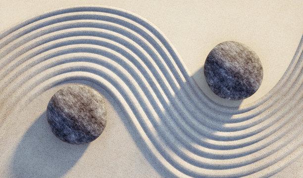 Steine Yin Yang