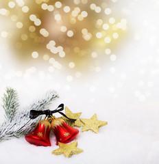 christmas bokeh bell card