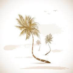 Palm Tree Grunge Illustration