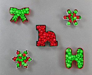 Holiday Cookie Cutters filled with Candy