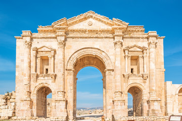 Arch of Hadrian in Gerasa, modern Jerash, Jordan