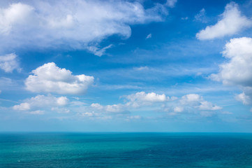 sea and blue sky, sun daylight relaxation landscape viewpoint