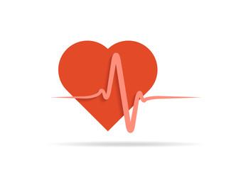 seamless EKG graph ,Heart beat rate icon