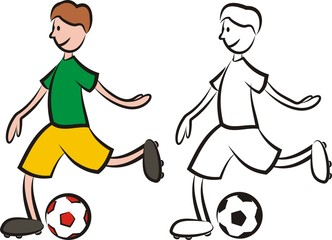 vector soccer player - striker