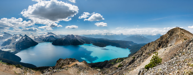 Fototapete - Panorama of Garibaldi lake from Ridge