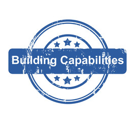 Building Capabilities business concept stamp