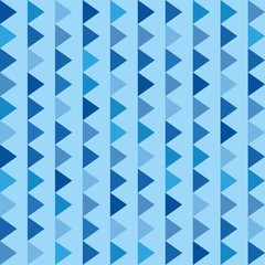 Foto op Canvas ZigZag Geometric Pattern. Abstract Background.