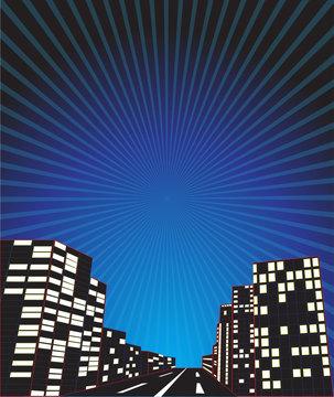 Night City comic Background