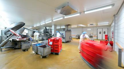 Großfleischerei, Herstellung von Wurstwaren
