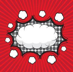Blank comic speech bubbles design for comic background
