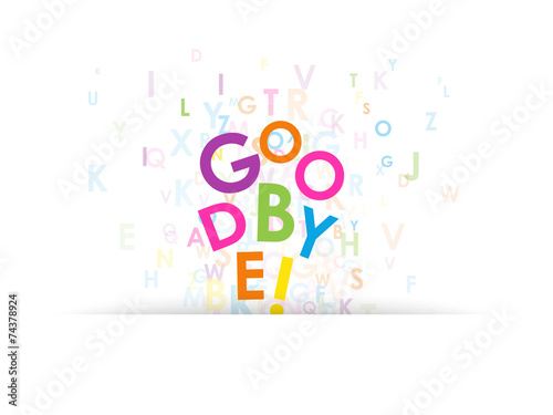 Goodbye Letter Collage Farewell Card Good Luck Travel Stock
