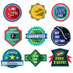 Special Offer logo badges and labels