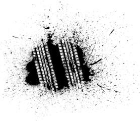 Grunge tire track
