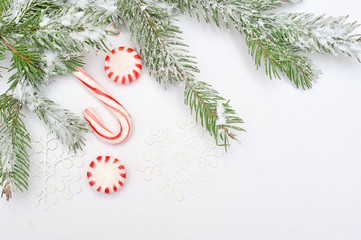 Christmas tree decoration with place for your text invitation