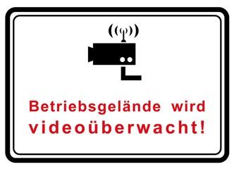 Betriebsgelände wird videoüberwacht