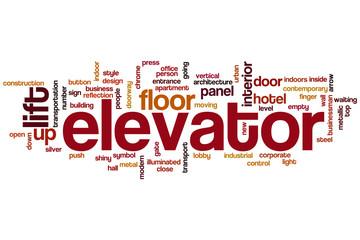 Elevator word cloud