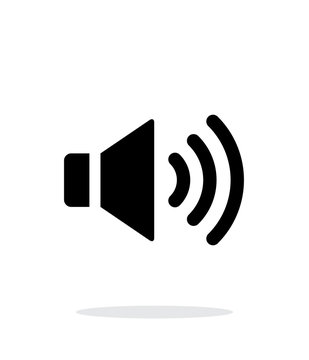 Volume max. Speaker icon on white background.