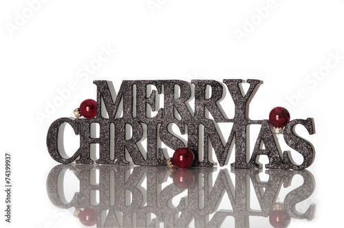 Frohe Weihnachten Englisch.Frohe Weihnachten Schriftzug Auf Englisch In 3d Stockfotos Und