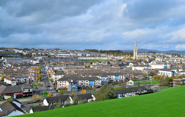 Cityscape in Derry, Northern Ireland.