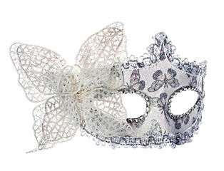 Carnival mask. Isolated on white background.