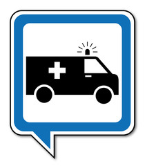 Logo ambulances, ambulanciers.