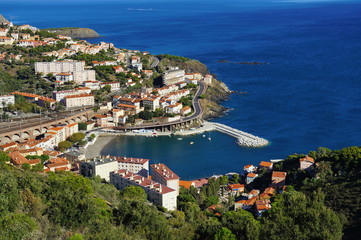 Coastal village of Cerbere Mediterranean France