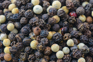 Close Up Background of Multi Color Peppercorn