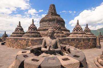 Papiers peints Edifice religieux Buddist temple Borobudur , Yogyakarta, Java, Indonesia.
