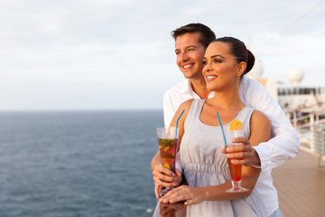 young couple on cruise trip