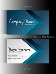 A business card template