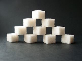 refined sugar pyramid