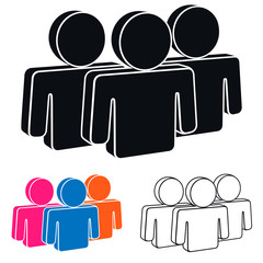 Human Resources Icon, Vector Illustration