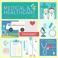 Medical and healthcare vector icon design