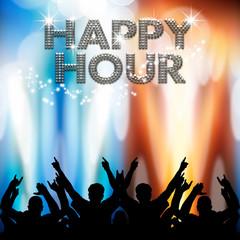 Happy Hour poster light eruptions
