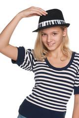 Fashion adorable teen girl