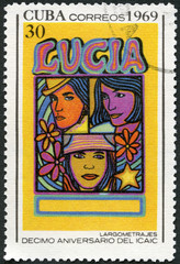 CUBA - 1969: shows Entertainers, devoted National Film Industry