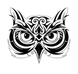 Owl head tattoo