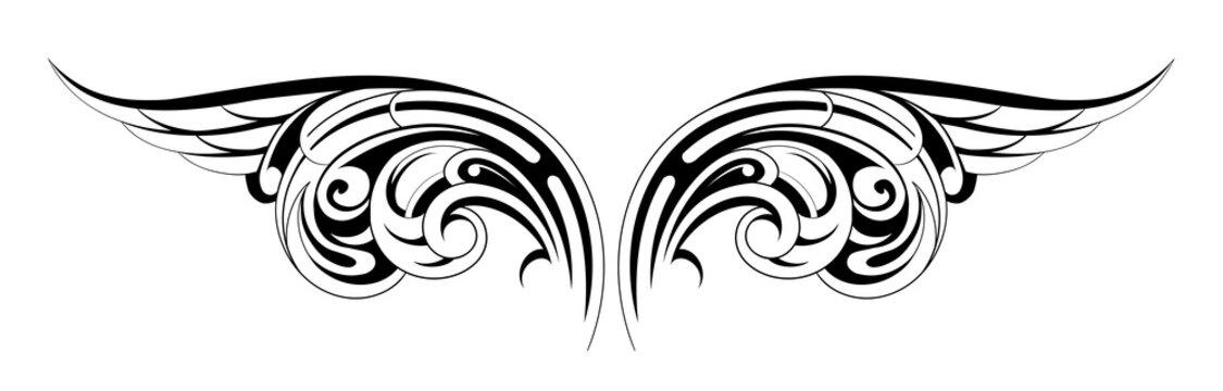 Wings tattoo
