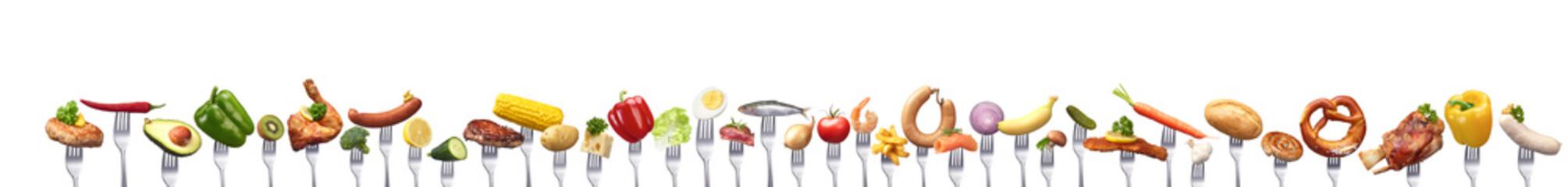 Sehr viele verschiedene Nahrungsmittel