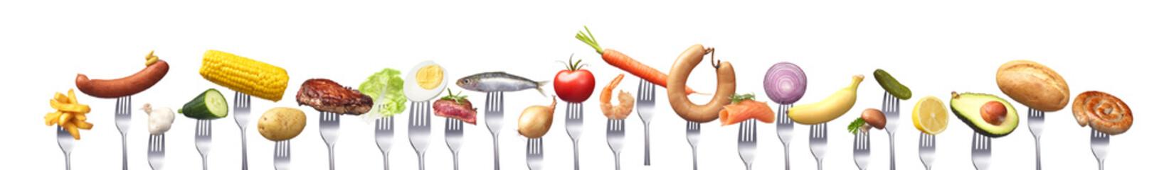 Gruppe von Lebensmitteln