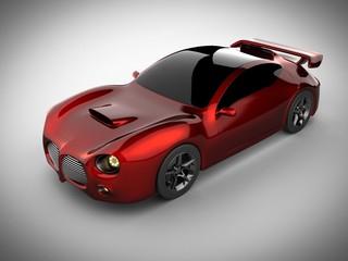 red luxury brandless sport car on white background
