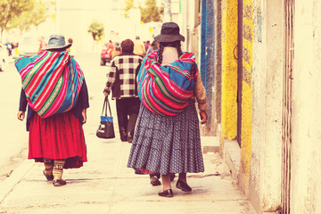 Bolivian people in city