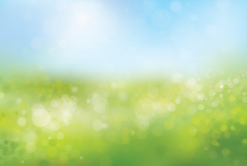 Vector blurred nature background.