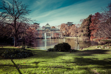 Crystal Palace in Retiro Park,Madrid, Spain.