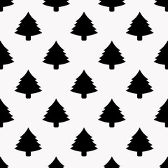 Vector background. Christmas tree pattern