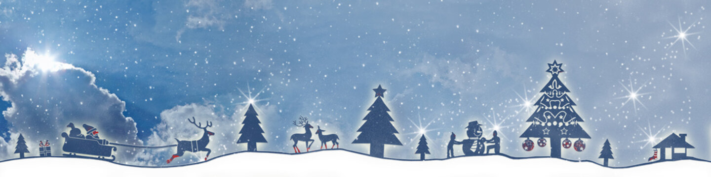 cb33 ChristmasBanner - Schnee ohne Text - Wolken 4zu1 - g2681